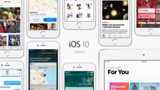 Imagen del iOS10 en la página de Apple