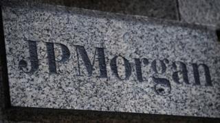 JP Morgan name plate