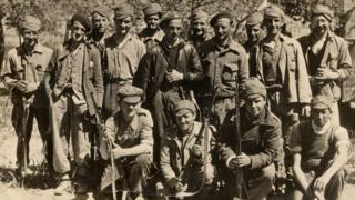 Welsh Volunteers of the XV International Brigade before the Ebro offensive, 1938 - picture from the South Wales Coalfield Collection at Swansea University