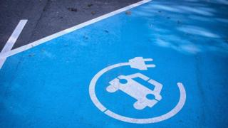 Charging point for electric car