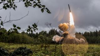 Russian missile launch