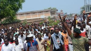 Burundi protest.