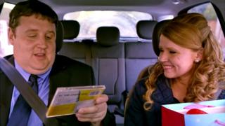 Peter Kay and Sian Gibson in Car Share