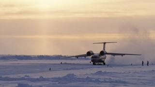 "Посадка Ан-74 на ""Барнео"""