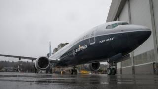 A Boeing 737 MAX 9 in Washington