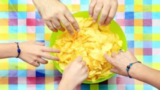 crisps in a bowl