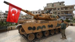 Afrin'deki Türk tankı