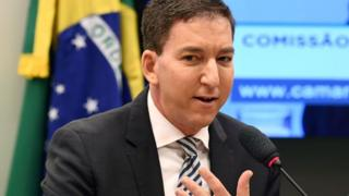 Glenn Greenwald speaking in Brazil in 2019