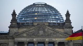 Reichstag Buildin in Berlin