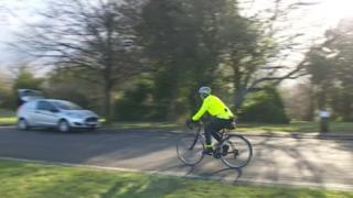 Cyclist at Clifton Downs