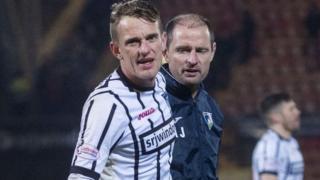 Dunfermline Athletic midfielder Dean Shiels and manager Allan Johnston