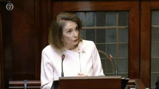 Nancy Pelosi in the Dáil