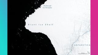 Map showing the ice shelf in 1986.