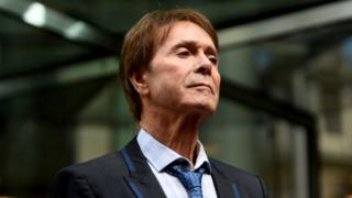 Sir Cliff Richard outside the High Court after his court win