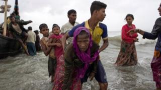 羅興亞難民抵達孟加拉