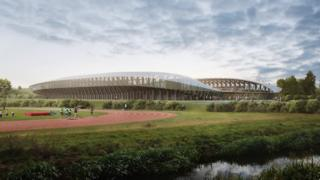 Zaha Hadid Architects design for Forest Green Rovers' stadium