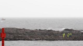 Coastguard teams and RNLI boat searching