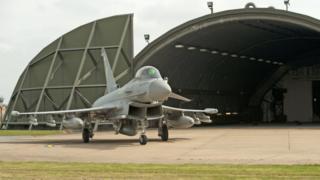 RAF Typhoon jet