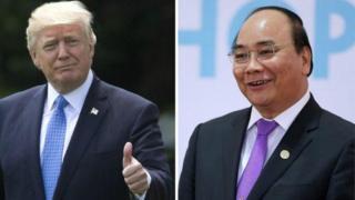 Tổng thống Mỹ, Donald Trump, và Thủ tướng Việt Nam, Nguyễn Xuân Phúc