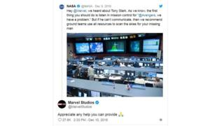 NASA tweets in response