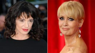 L to R: Asia Argento and Lysette Anthony