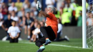 Jose Mourinho in a penalty shootout