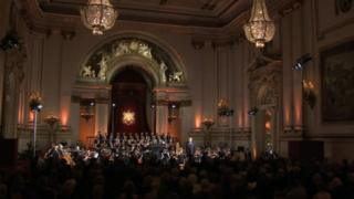 Welsh National Opera perform at Buckingham Palace
