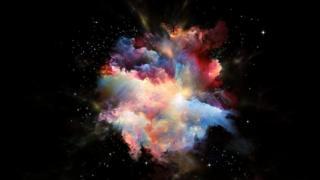 Imagen ilustrando el Big Bang.