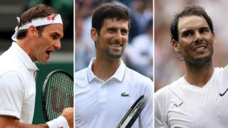 Roger Federer, Novak Djokovic and Rafael Nadal ease through to the Wimbledon quarter-finals