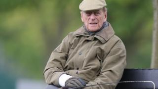 The Duke of Edinburgh at the Royal Windsor Horse Show in Windsor, Berkshire, in May