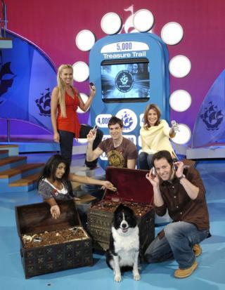 Konnie Huq, Zoe Salmon, Gethin Jones, Liz Barker and Matt Baker with Meg the dog