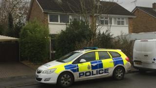 Crime scene in Avondale Road