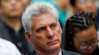 Cuba's First Vice-President Miguel Diaz-Canel attends the opening of the Havana International Book Fair with China as the featured country and dedicated as a tribute to Historian of the city of Havana Eusebio Leal (not pictured), in Havana, Cuba February 1, 2018