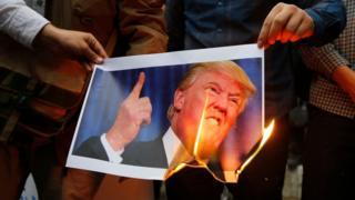 Protestas contra la ruptura del acuerdo nuclear en Irán