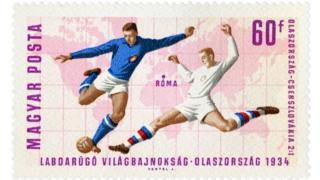تمبری که به مناسبت پیروزی ایتالیا مقابل چکسلواکی منتشر شد