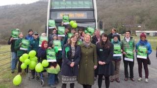Green party members at their assembly campaign launch