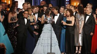The cast and crew of Dear Evan Hansen