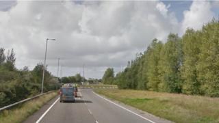 The A484 near the Bynea roundabout