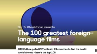 BBC CULTURE'S 100 GREATEST FORIEGN FILM LIST