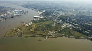 The Swanscombe Peninsular, where the London Resort will be built
