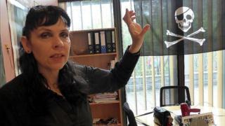 Leader of the Pirate Party of Iceland Birgitta Jonsdottir, 25 May 16