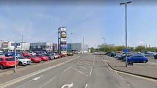 The assault took place near Laharna Retail Park in Larne
