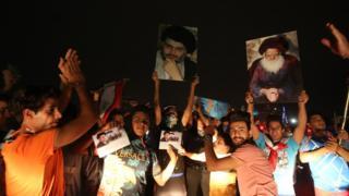 Sadr taraftarlarının kutlaması