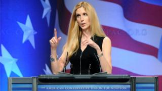 Ann Coulter at a podium