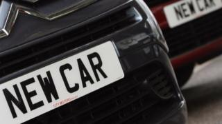 New car plates