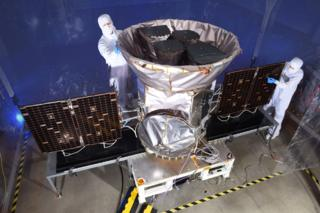 Tess spacecraft being prepared