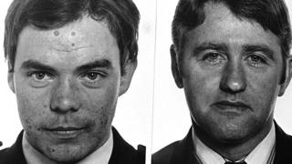 RUC officers Michael Malone (left) and Ernest Carson (right) were killed in an IRA gun attack in 1987