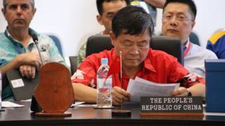 中國是太平洋島國論壇的對話伙伴國,由特使杜起文率團參加。