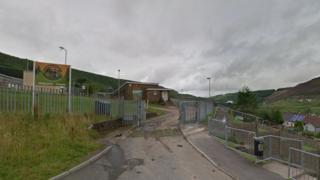 Maerdy Primary School entrance