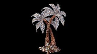 棕榈树胸针